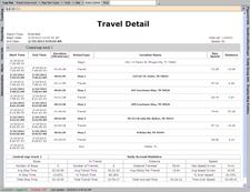 gps travel detail report